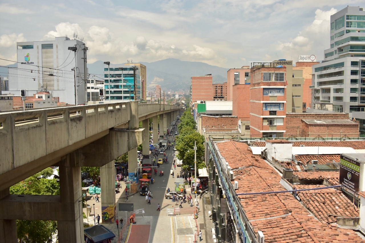 Medellin view from metro station