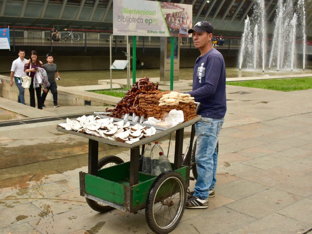 Medellin street food vendor