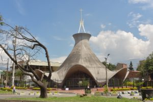 Medellin church with interesting architecture