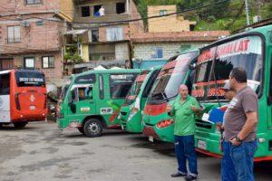 Medellin bus drivers barrio 8