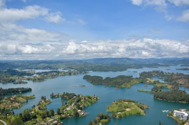 View of the reservoir La Peñol
