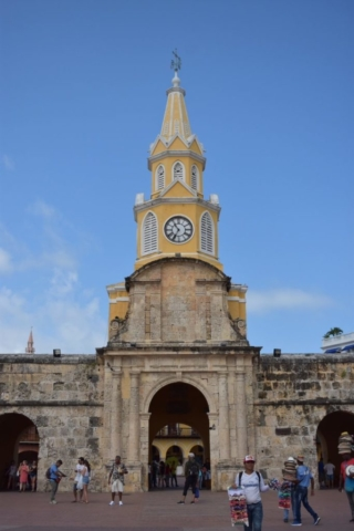 Clock tower of Cartagena