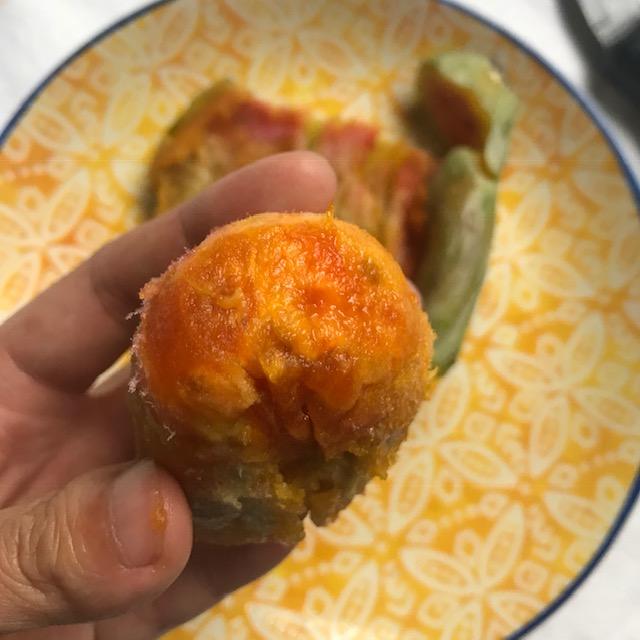 Peeled cactus fruit