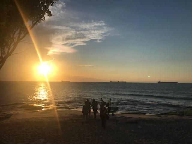 Sunset views by Santa Marta airport